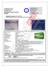 Proactol Plus Certificate